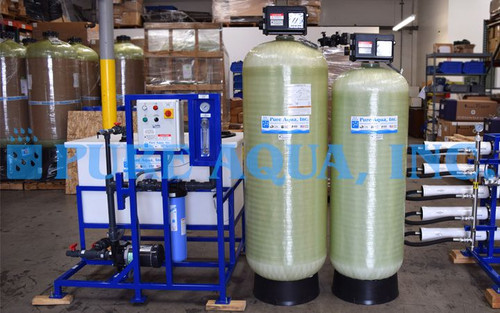 Ósmosis Inversa con Pretratamiento y Limpieza de Membranas Ensamblados Para Servicio de Lavandería Industrial 22,000 GPD - Saipan