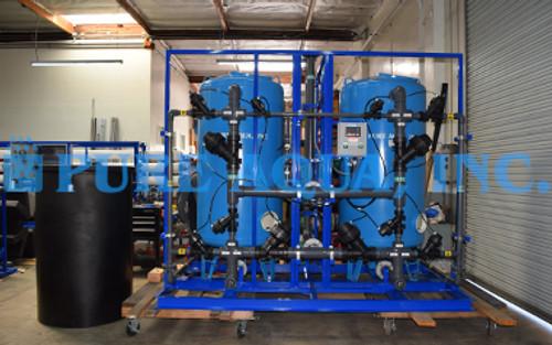 Sistema Comercial de Ablandamiento de Agua Alterna Doble para Agua Potable a 100 GPM - EE. UU.
