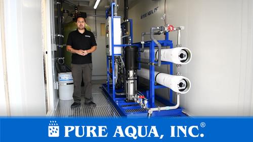 Sistema de ósmosis inversa industrial en contenedores