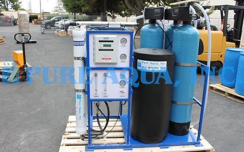 Máquina de Ósmosis Inversa para Agua Salobre Montado en Plataforma 4,500 GPD - Sudáfrica