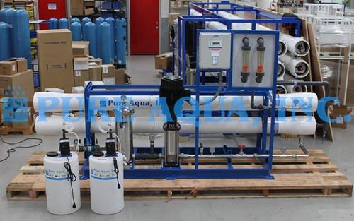 Máquina Comercial de Ósmosis Inversa para Agua Salobre 43,000 GPD - Peru
