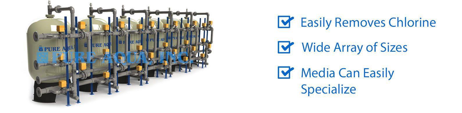 industrial water media filters mf-600 series features