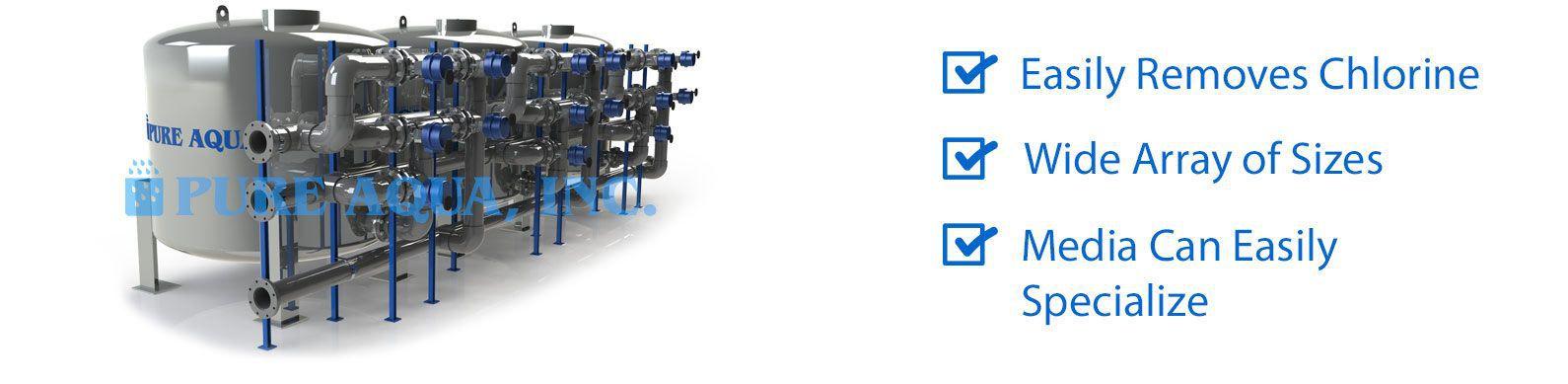 industrial water media filters mf-1100 series features
