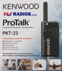 Kenwood's ProTalk PKT-23K LT two-way business radio is specially designed for those that want a compact unit that is about 5 inches with the antenna and is tiny in size.