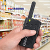 This PKT23 is a small but powerful radio is simple to operate and durable, meeting or exceeding MIL-Spec standards 810 C/D/E/F/G (11 items) and IP54 (dust/water intrusion).