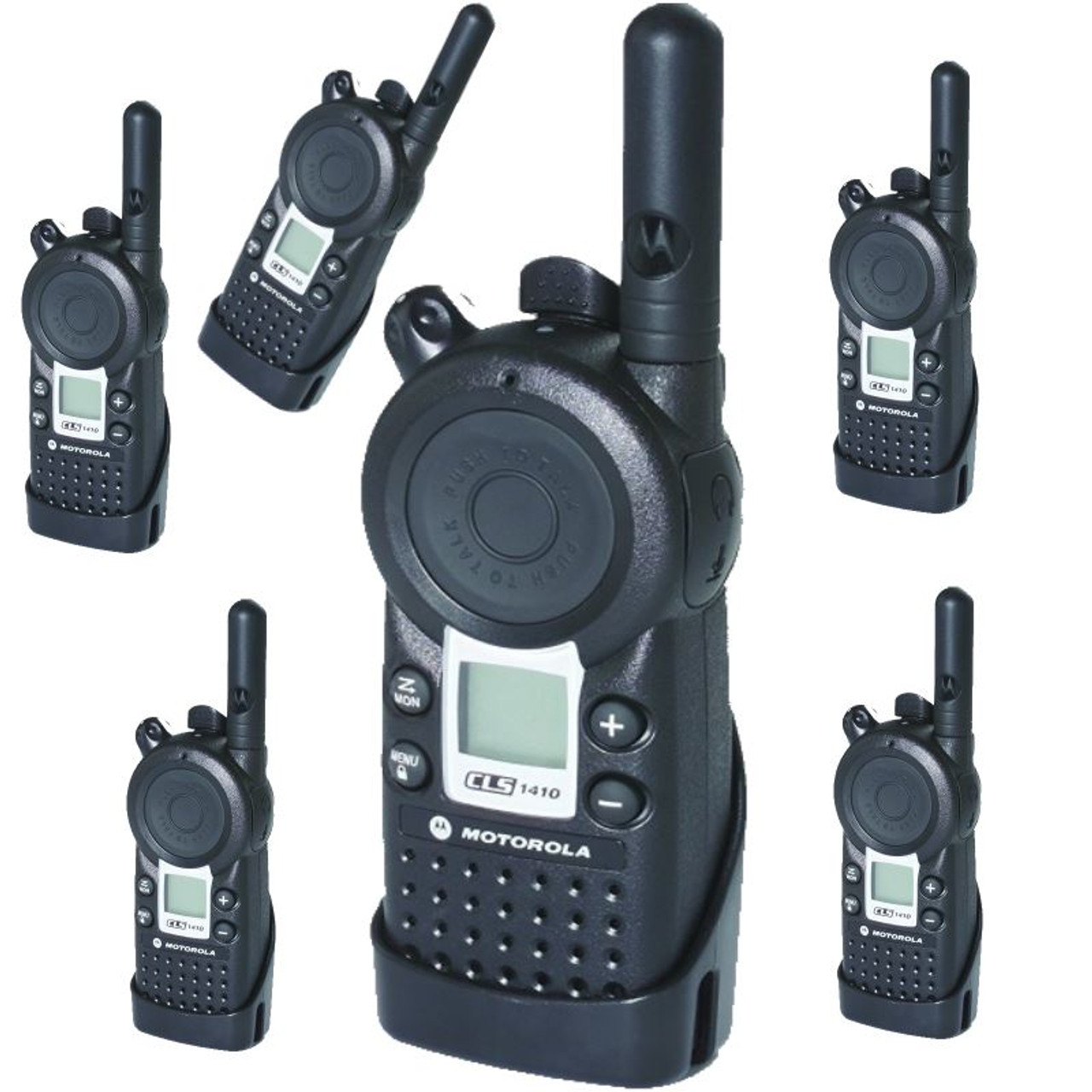 Motorola CLS1410 UHF 4CH Two Way Six Pack Bundle