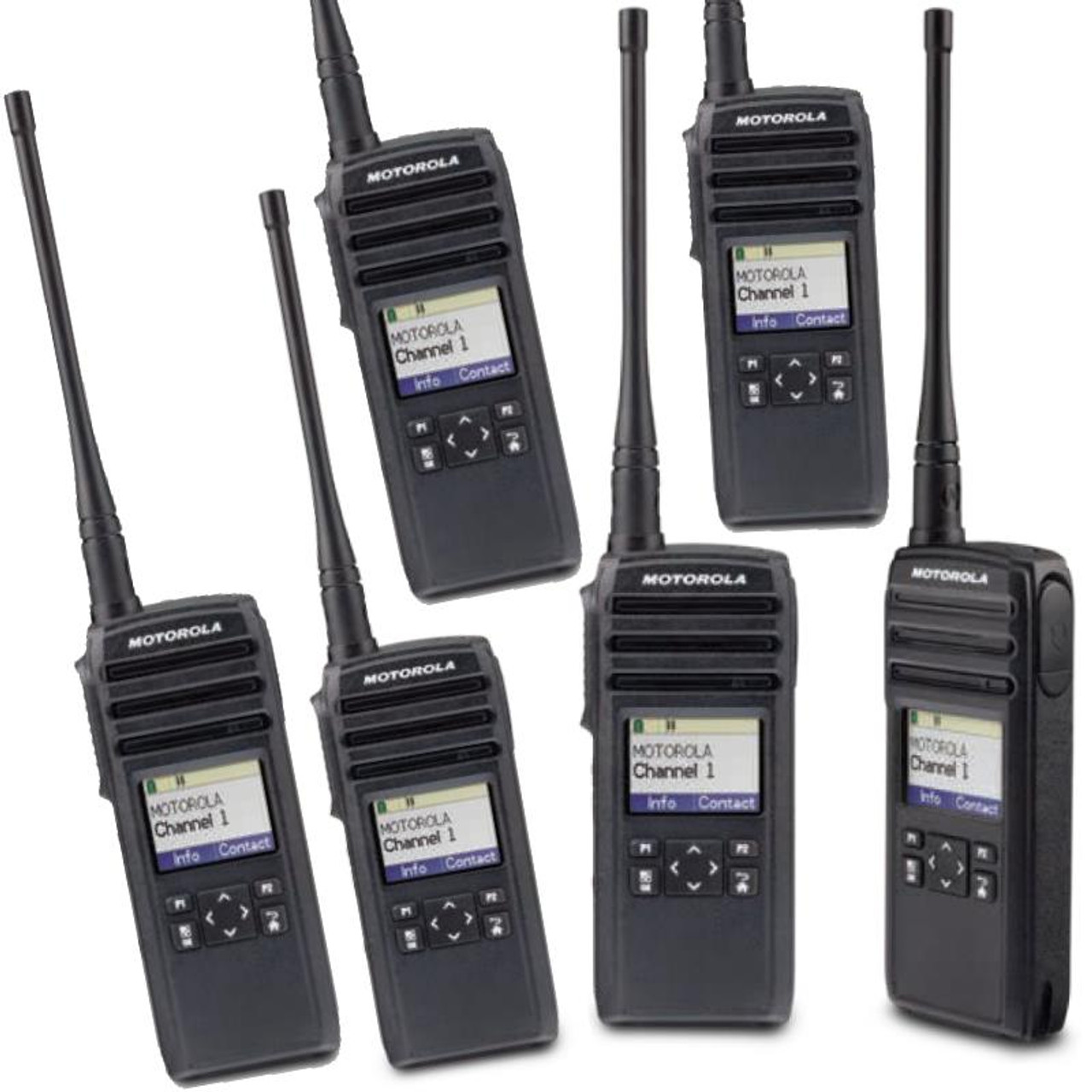 8f924f44e Six pack of LICENSE FREE Motorola DTR600 Digital Two Way Radios for your  business has Vibra Call and Texting features