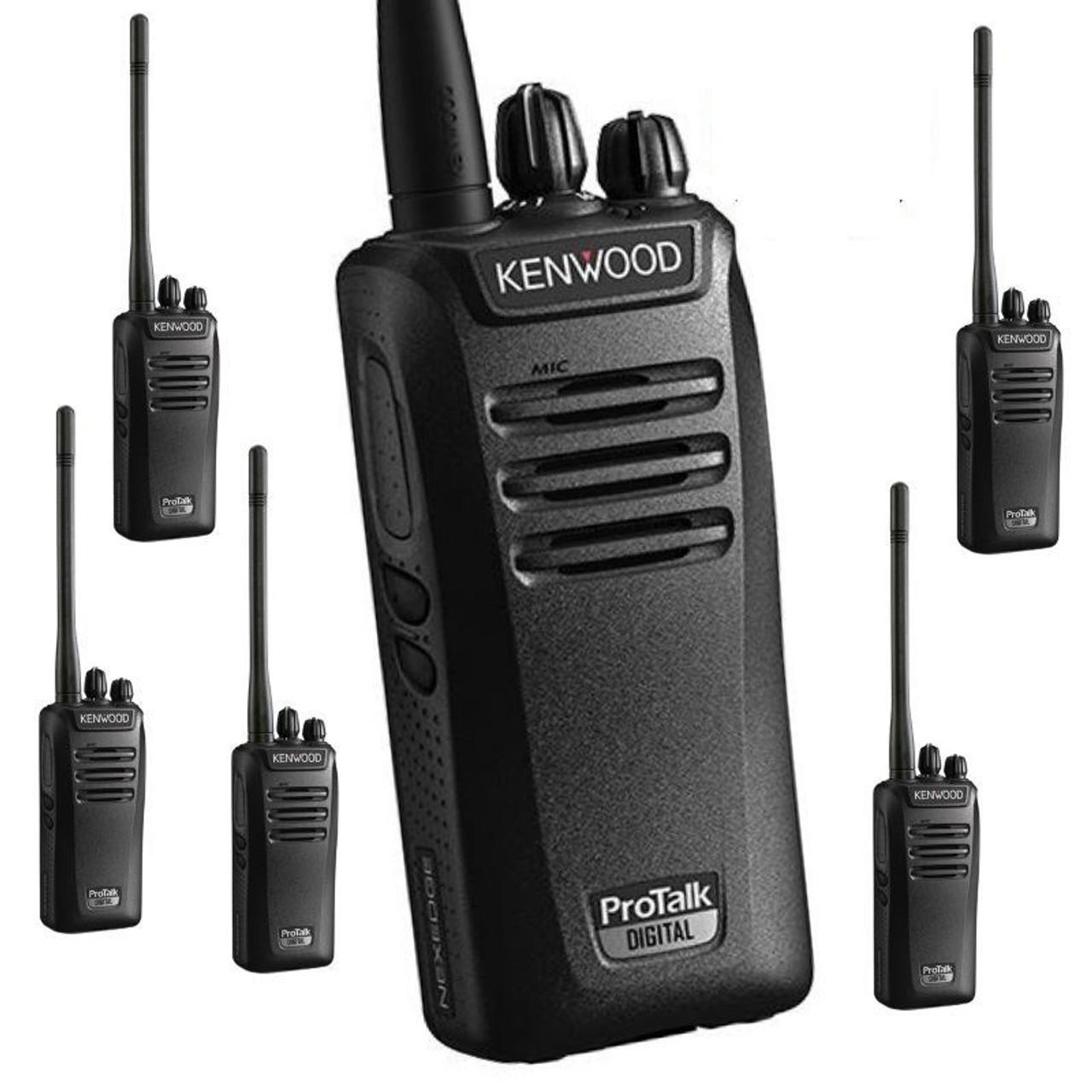 Kenwood NX 240 Digital Analog 32CH 2W VHF Radio Six Pack