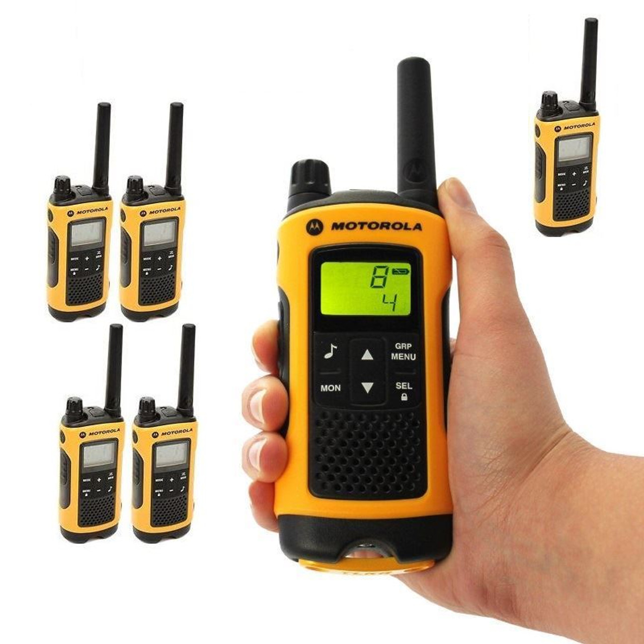 Talkabout T402 FRS/GMRS 2-Way Radios in Yellow Six Pack