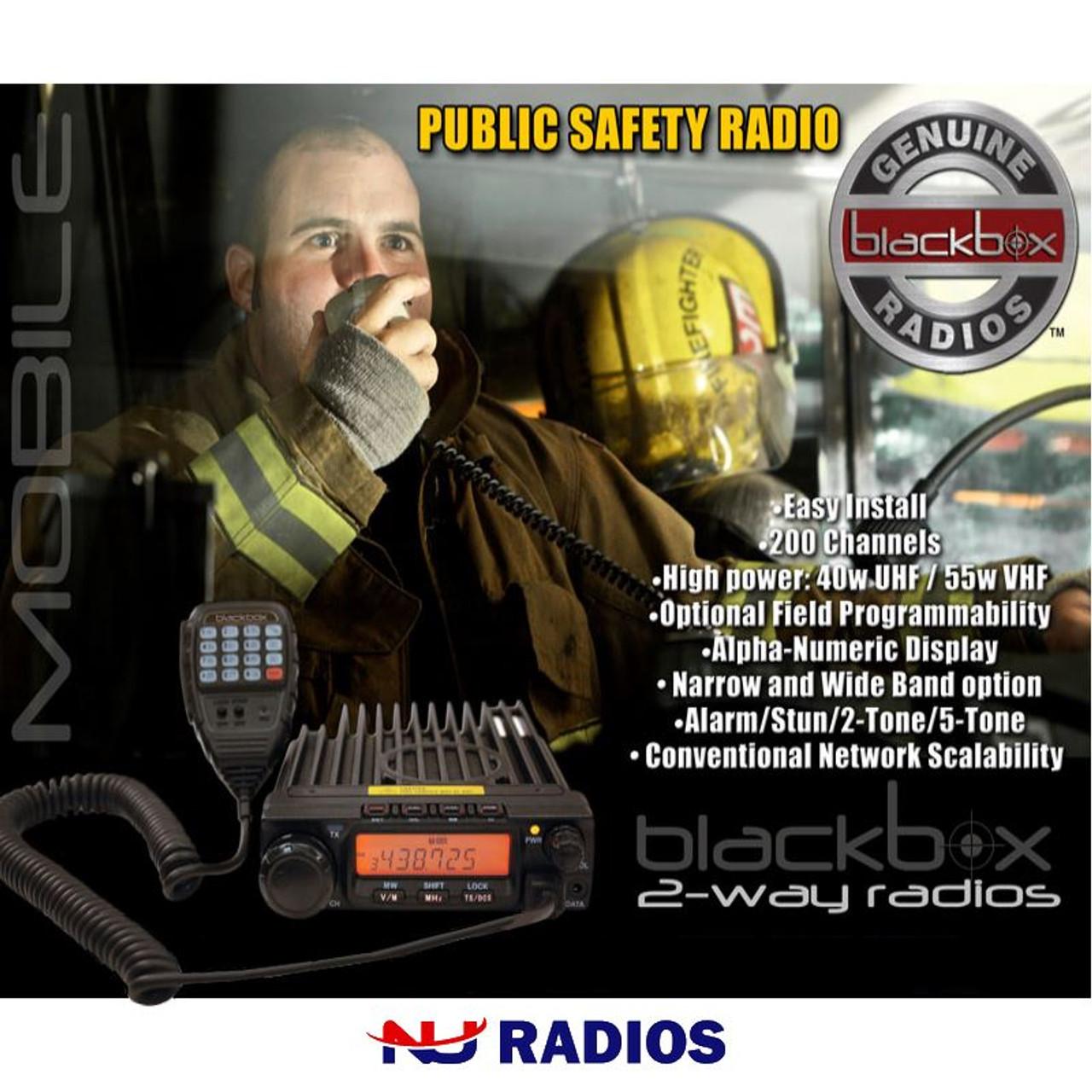 Blackbox Mobile 200 Channel 40 Watt UHF 2-Way Radio