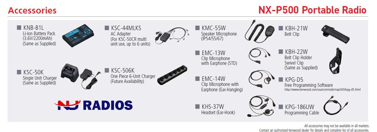 Kenwood NX-P500 Digital / Analog 6CH 2W UHF 2-Way Radio