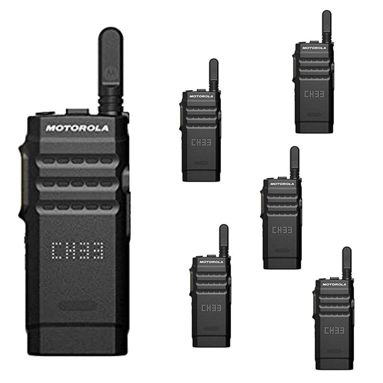 6c35c0a4a Six Pack of Motorola SL300 Analog   Digital Two Way Commercial Radios UHF  99 ChannelDisplay DMR - AAH88QCPC9JA2AN