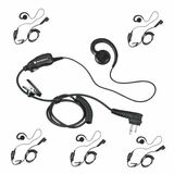 Get your six pack of this popular Motorola HKLN4604A Flexible Swivel Earpiece. Provides all-day comfort and wear. Designed for retail applications; Small, lightweight and durable. Works with the CLS, DLR, DTR, RDU, RDV, RMM, RMU and RMV series of radios.