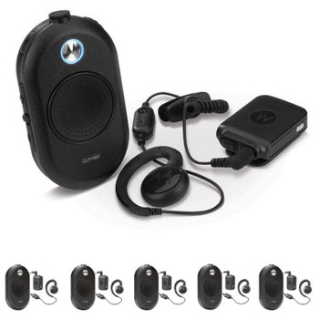 Get your Six Pack and make it easy for all with a large central push-to-talk button makes CLP-1060 easy to operate. And a variety of accessories gives users multiple Bluetooth headset wearing options. Perfect for the high end boutique, retail or restaurants.