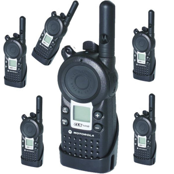 Connect your team easily with this Six Pack of Motorola CLS1410 four channel Two Way Radios - there small and lite on-site communication solution from Motorola.
