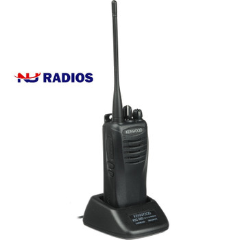This Kenwood with 2 Watts is powerful. The  TK-3400U16P ProTalk two-way business portable radio with 16 channels, is ideal for communications in construction, manufacturing, retail, movie theaters and grocery stores.