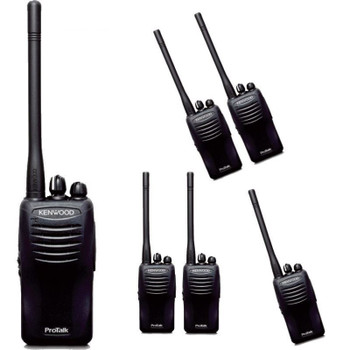 This Six Pack of Kenwood TK2400V16P radios allow for a safer work environment due to how easy it is to use and how quickly the radios communicate. Fast communication is a must in emergency situations. A simple push of a button will allow quick and easy contact!