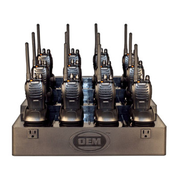 OEM FuelPad 12 multi charging station for two way radios is easy to use and works with 9 to 12 two way radios. This plug and charge Fuelpad works with Kenwood and Motorola and Blackbox two way radios. A must have!