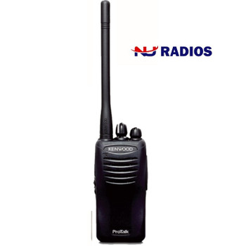 Kenwood TK-2400V4P two way radio offers 4 channels, 2 watts of power and coverage for up to 220,000 square feet, 13 floors, or up to 6 miles. Weighs only 9.9 oz. with Battery