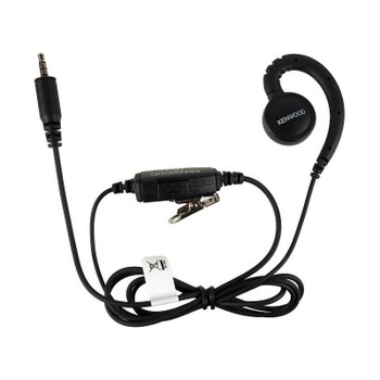 The Kenwood KHS-34 is an in-line push and talk switch Microphone with a small C-Ring Ear hook that rests comfortably on your ear. ... The KHS34 has a Clip Microphone With Ear hook or C-Ring. ... This ear hook, with clip on microphone works with ProTalk PKT series radios only.