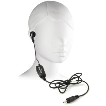 KHS33 Kenwood ProTalk 1-Pin Earbud with convenient Push To Talk in-line Microphone that fits the PKT series radios, PKT-23, PKT23K and LT models.