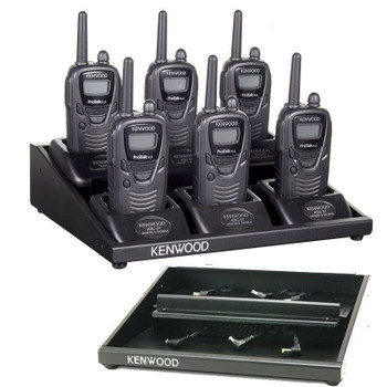Kenwood KMB27 is a 6-Unit Charger Adapter which fits TK3130 and TK3230 Radios. It allows you to charge up to 6 radios simultaneously. Simply connect the charging stand that came with radios and you are ready to go. KMB-27 MUC