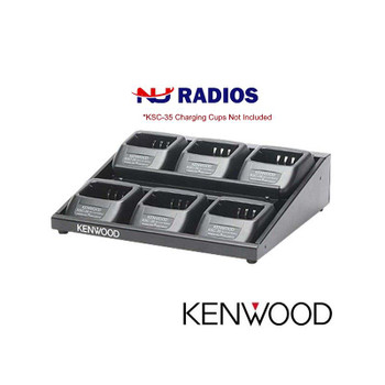 Kenwood KMB28 is a 6-Unit Charger Adapter which fits TK2400, TK2402, TK3400, TK3402, NX-240 and NX340 Series Radios. It allows you to charge up to 6 radios simultaneously. Simply connect the charging stand that came with radios and you are ready to go. Fits KSC-35 Cups.