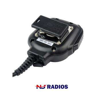 Kenwood KMC-45 Heavy Duty Speaker Microphone with 2.5mm listen only port for available earbuds (not included). Works with Kenwood ProTalk TK2400, TK2402, TK3230, TK3400, TK3402, NX240 and NX340 series radios.