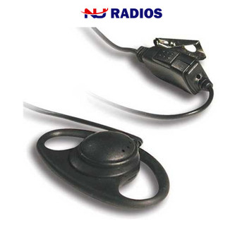 HS-27 D-Ring Headset with In-Line Push-to-Talk Mic features a soft rubber D-ring ear loop hanger with speaker. Works with Kenwood ProTalk TK2400, TK2402, TK3230, TK3400, TK3402, NX240 and NX340 series radios.