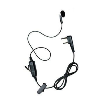 The Kenwood Model KHS-26 Earbud Headset with In-Line Push-to-Talk Mic and can be used on the left or right ear. It plugs directly into a Protalk radio and offers clear sound.  It includes a tiny earpiece that fits in your ear.