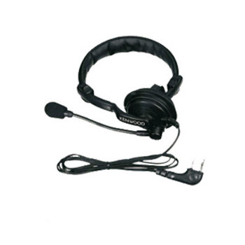 Kenwood KHS7 Single Muff Headset with Boom Microphone uses the PTT on the radio to speak.  The model KHS-7A has an inline PTT button, this model does not. Fit's 2-Pin model radios.