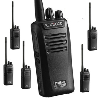 This Six Pack of Kenwood radios with 2 Watts is powerful. The  NX-240V16P2 ProTalk two-way business portable radio with up to 32 channels (16 in each zone), is ideal for communications in construction, manufacturing, farms, expo's and outdoor venues.