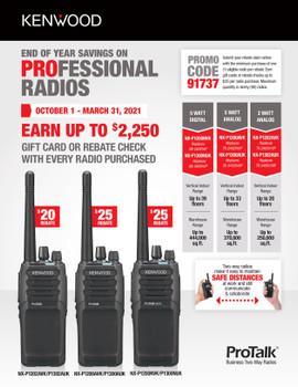 GET UP TO $25 CASH BACK PER RADIO BY REBATE!