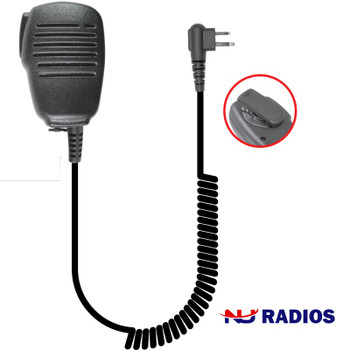 The SPM-101 is a lightweight, compact remote speaker microphone designed for use in light-duty applications. This unit is an aftermarket product and is very durable and loud.