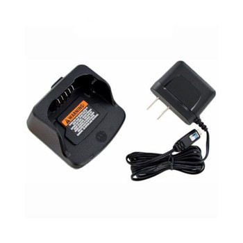 The Motorola PMLN6394A is a charging cradle and power supply for the Motorola RM Series two way radio.