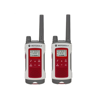 You can communicate with other FRS and GMRS radios regardless of brand by being on the same channel and privacy code.  The Motorola Talkabout T480 Two-Way Radio 2-PACK offers instant communication, the T480 keeps you and your family ready for emergencies. Emergency Preparedness!