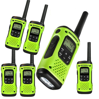 This Six Pack of Motorola Talkabout T600 H2O radios keeps you connected and protected during your extreme outdoor activities.