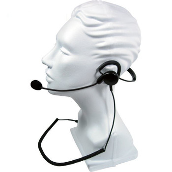 Rugged, medium duty behind-the-head headset with flexible boom microphone for 2-Pin Motorola radios. The Patriot has an adjustable, padded headset allows for ideal fit and maximum comfort for long hours of use, plus a noise canceling boom mic. SPM-1403