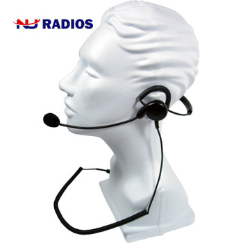 PATRIOT SPM-1400 Series - Light Weight Headset: Behind-the-head headset with noise-cancelling boom microphone and earphone.  Fit's 2-Pin Kenwood radios.