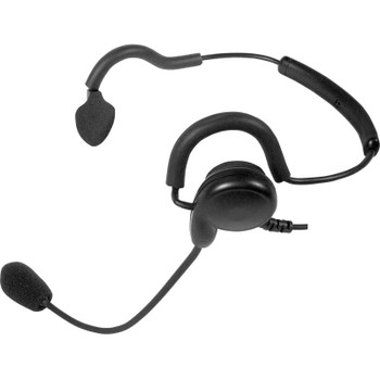 The Patriot is a behind-the-head headset that is a breeze to wear! The noise-canceling flexible boom microphone provides clear transmit audio while the loud single-ear speaker lets incoming signals be heard. Has an inline Push-to-Talk button.