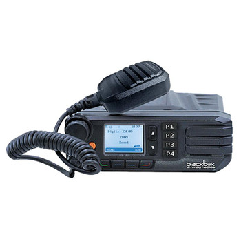 Blackbox GO DMR Mobile UHF Public Safety Radio, Easy Install, 1024 Channels, High power: 40w UHF, USB Programmability, Alpha-Numeric Display and much more.