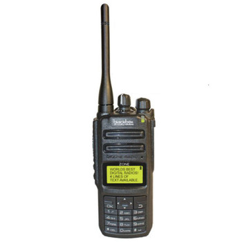 The Blackbox DMR UHF ZONE KP with Display 2-way radio offers 1000 UHF channels in digital and analog capability in an affordable radio. IP65 water proof construction for durability.