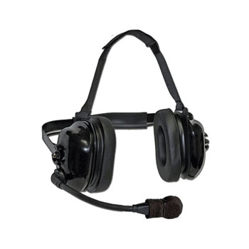 Titan OEM Flex Boom Series - Dual Earmuff Headset with a Racing Styled (behind-the-head) Dual Muff Headset. Flat Black finish. Now with a 25dB noise reduction. Fits Kenwood 2-Pin radios like the TK and NEXEDGE series.