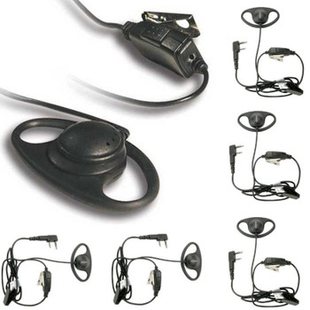 Get your six pack of Kenwood KHS-27 D-Ring Headsets with In-Line Push-to-Talk Mic features a soft rubber D-ring ear loop hanger with speaker. The ear loop can be worn on either ear.