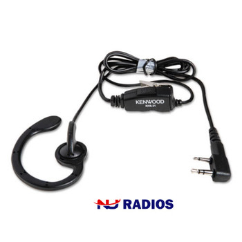 Kenwood NX and TK series KHS-31 is a C Ring Earhanger w/ PTT microphone & in-line Push to talk feature, order now.