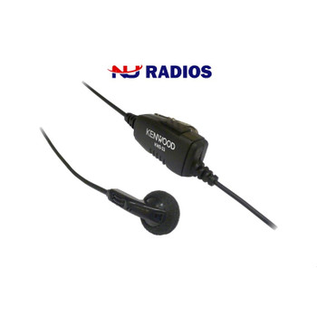 KHS 33 Kenwood Earbud has Push-to-Talk Microphone with in an  ear bud. Discrete Earbud with convenient In-Line PTT