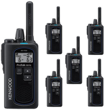 The NX-P500 ProTalk NEXEDGE Kenwood Six Pack is reliable, with clear audio quality and a greater range. Control who hears your message and reduce distracting chatter.   Better audio quality, better coverage, and better control is now move affordable than ever before.