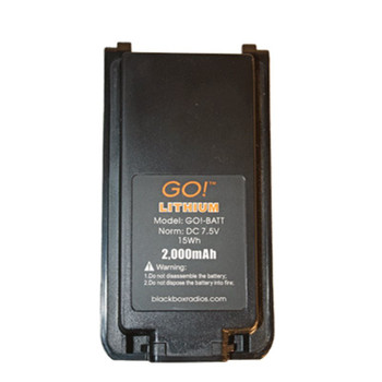This OEM 2,000 mAh  Lithium Ion Battery made for Blackbox GO! Radios. A good employer always has a spare on hand.