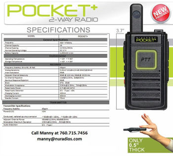Just like the Kenwood LT or PKT23, the Blackbox Pocket fits that entry level need for most small businesses wanted to communicate with there employee's.
