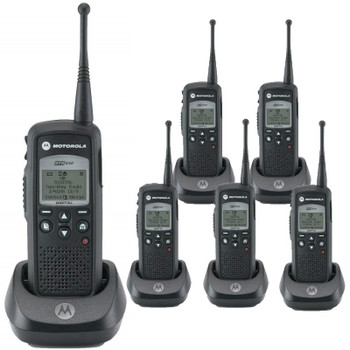 That's why our DTR650 Digital On-Site Two-Way Radio is the ideal business solution. With enhanced in- building coverage, loud, clear audio and no monthly fee's. Plus, it Vibrates! Get your Six Pack today.